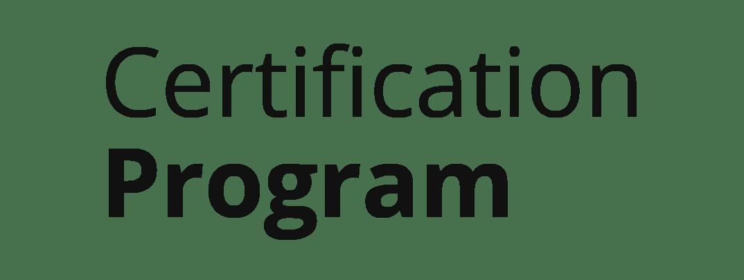Zahir Certification Program Black