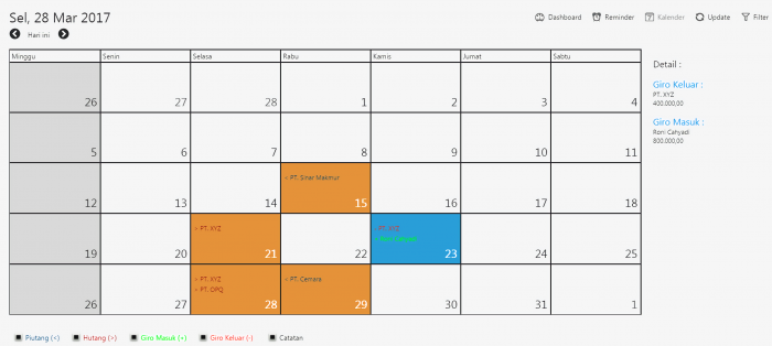 kalender pengingat