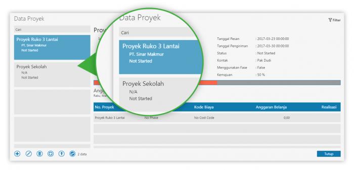 data proyek